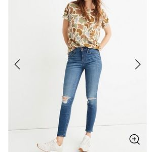 """Madewell 9"""" mid rise cropped skinny jeans"""